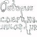 Octopus Font by kennabeann
