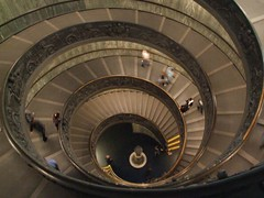 Spiral Stairs at Vatican Museums - Vatican City Italy - Creative Commons by gnuckx