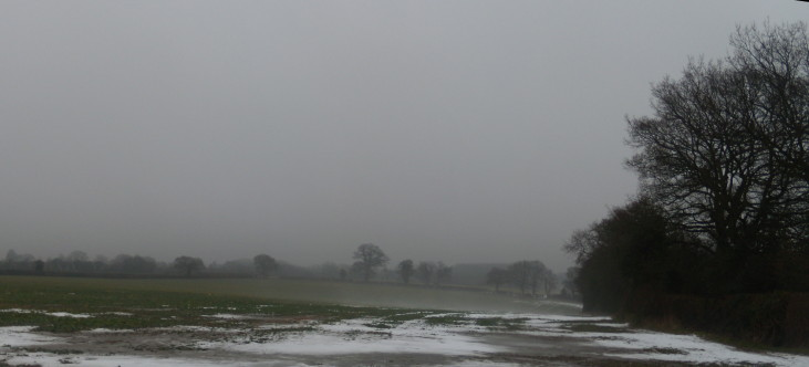 Misty view Chorleywood to Chesham