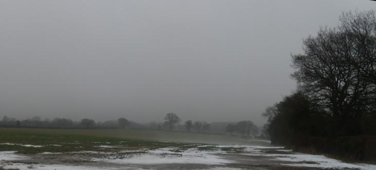 Misty view Chorleywood to Chesham