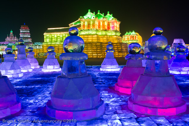 Ice Block Chess Set, Harbin Ice and Snow World
