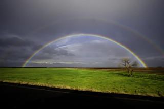 Double Rainbow from I-5