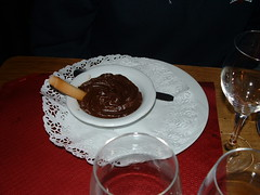 "<p>Chocolate Pudding in the Alps ""Yum Yum!""</p>"