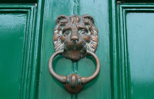 Original Victorian 39 Lion 39 S Head 39 Door Knocker In Bronze
