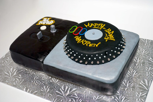 Happy Birthday Turntable Cakes