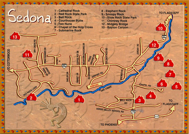 Map Showing Sedona ArizonaSedona Arizona City MapDowntown Sedona – Tourist Map Of Arizona