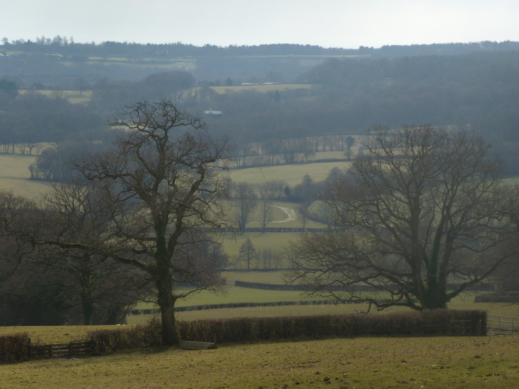 View into the valley Nearing Burwash Stonegate to Robertsbridge