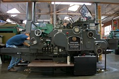 "The Press: Original Heidelberg Cylinder, 22 1/2"" x 30 1/4"""