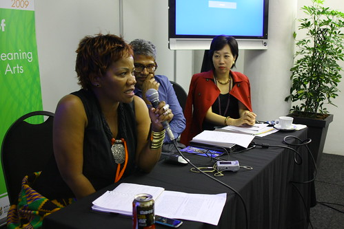 Maud Dikobe (Botswana), Gerard Lemos (UK) and Mayuko Sano (Japan)