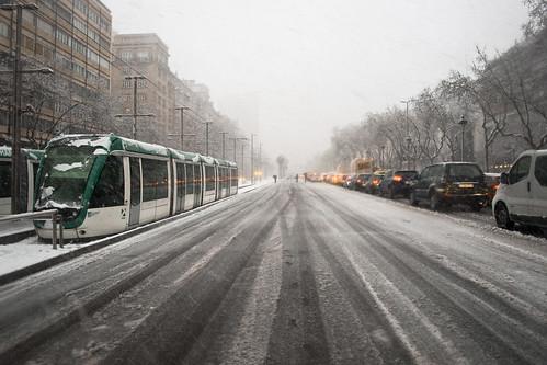 Avinguda Diagonal | Nieve en Barcelona