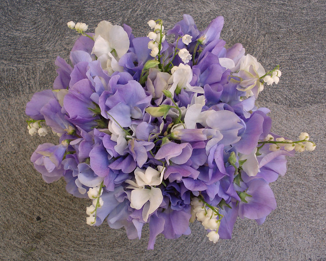 Lavender Sweetpea & Lily Of The Valley Bridal Bouquet