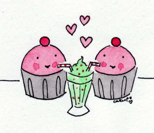 Cuppie love over a milkshake