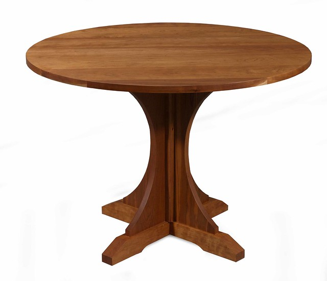 Round Mission Pedestal Dining Table in Cherry Flickr  : 445178237540135d0f64z from flickr.com size 500 x 431 jpeg 55kB