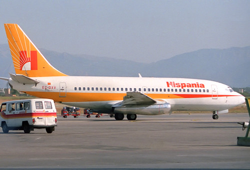 Hispania B737-2L9 EC-DXV PMI 23/07/1988