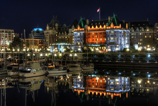 The Empress Hotel Reflected
