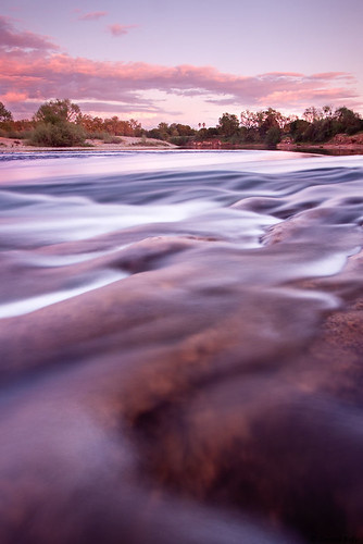 sunset water rocks sacramento americanriver