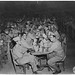 Soldiers sitting at tables during Passover meal, circa 1945