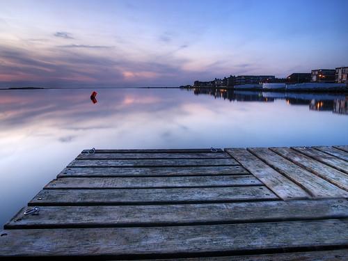 uk sunset reflection water marina dusk jetty wirral westkirby