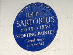Photo of John Francis Sartorius blue plaque