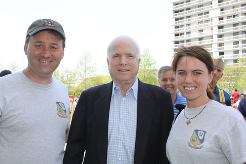 Senator John McCain posing with us before the Blue Angels performance in Charleston, SC - 4/17/10