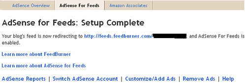adsense for feed setup complete by malaysianaffiliateprogram