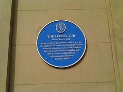 Photo of Leeds Club blue plaque