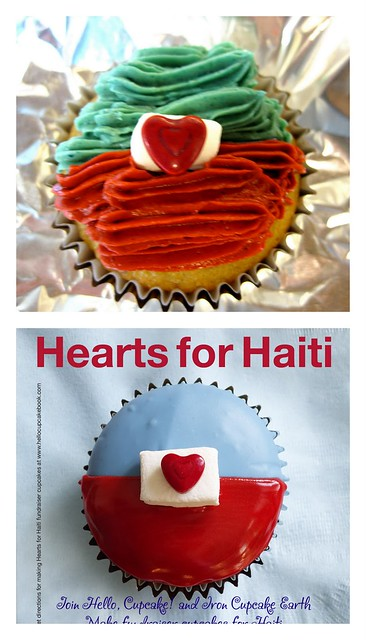 Hearts for Haiti cupcake