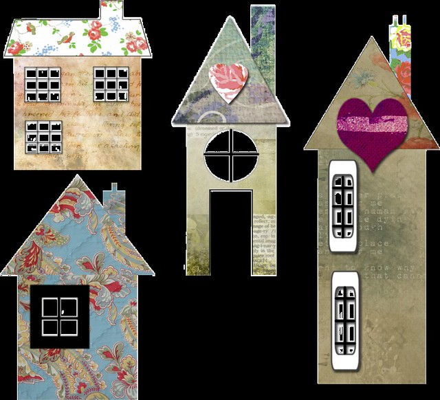 Free Collage House Snips