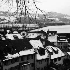 Snow over Rapperswil