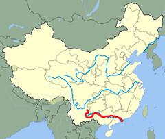 Xi River China Map.Xun Xi River Huneycuttaddison Flickr