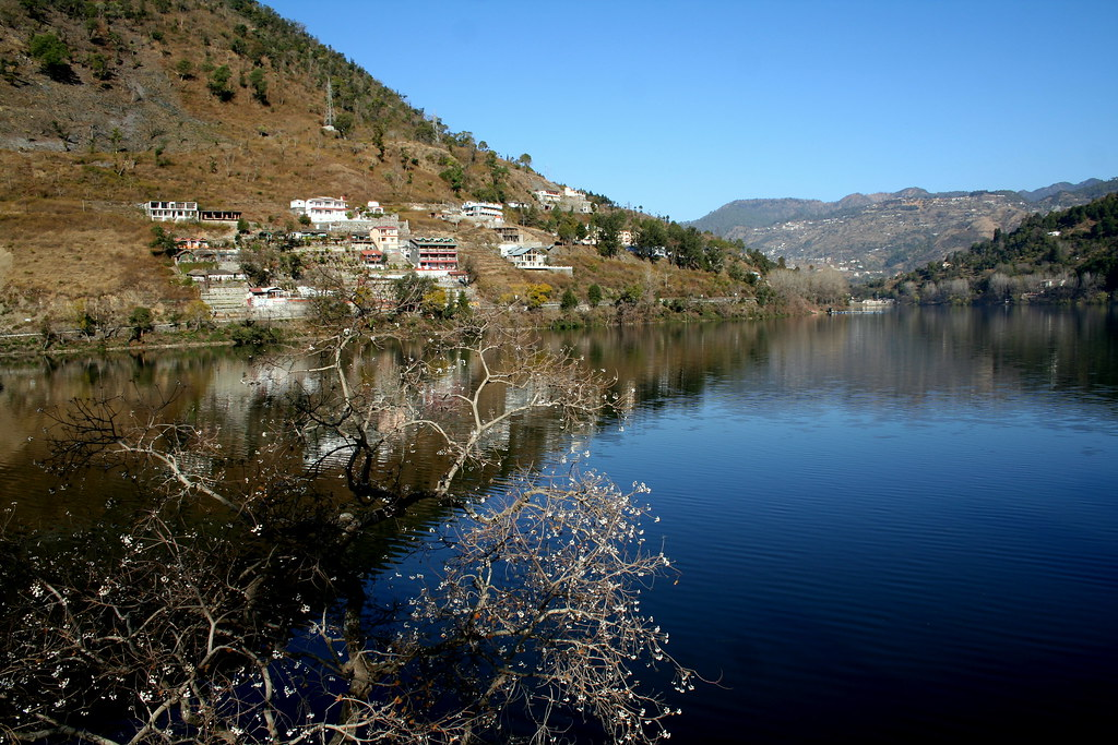 Bhimtal Lake near Naintal, Uttrakhand, India