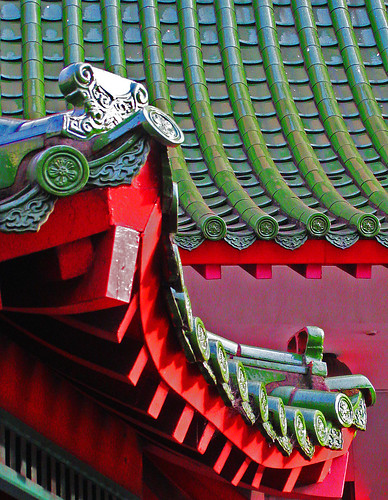 Sydney Chinatown, roof detail