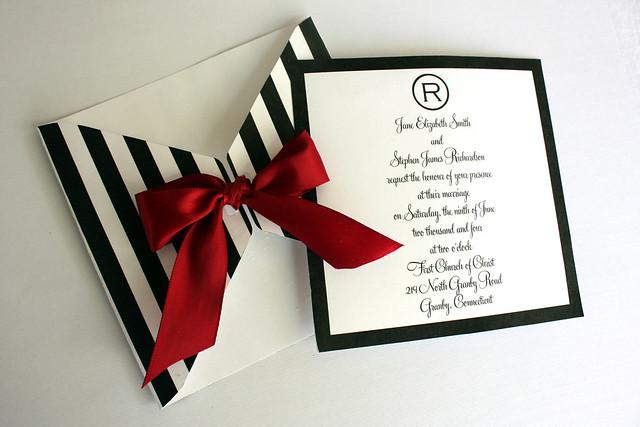 modern design black and white wedding invite the posh event brigitte klotzek obringer - Black And Red Wedding Invitations