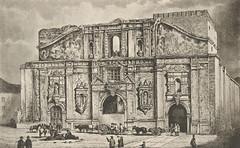 Iglesia de la Compañia  tras incendio en un grabado de la  Ilustracion Española.