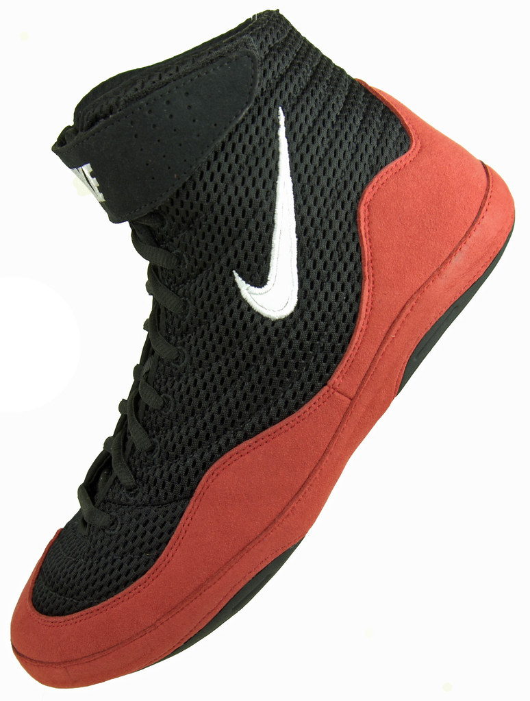 8fba5a4d0d760e ... Wrestling Shoes Nike Inflicts Black and Red - View 1