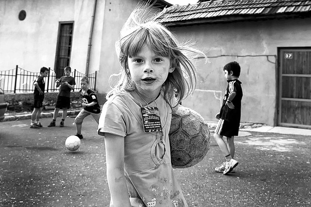 Kids Playing Soccer - Shooting the Strangers