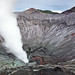 The steaming crater of Mount Bromo