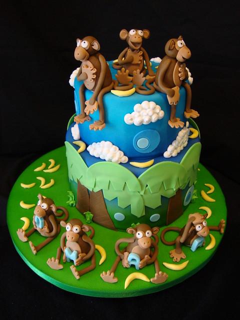 monkey baby shower cake flickr photo sharing