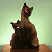 Siamese Mother Cat and Kitten TV Lamp-Night Light