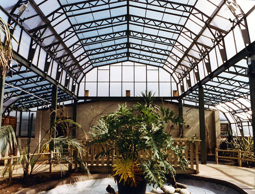 The Clear Span Commercial Floral Hall Greenhouse