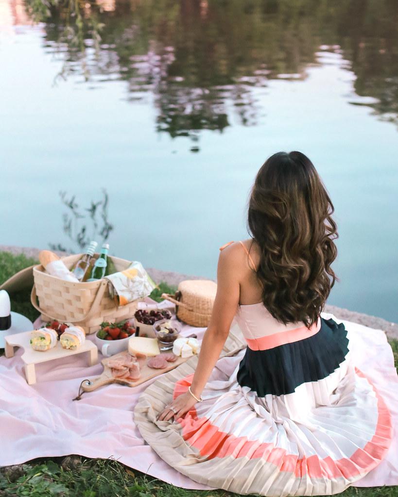 summer picnic spread pleated dress boston MA