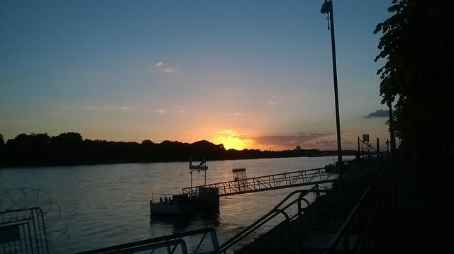 Sunset on the Rhine