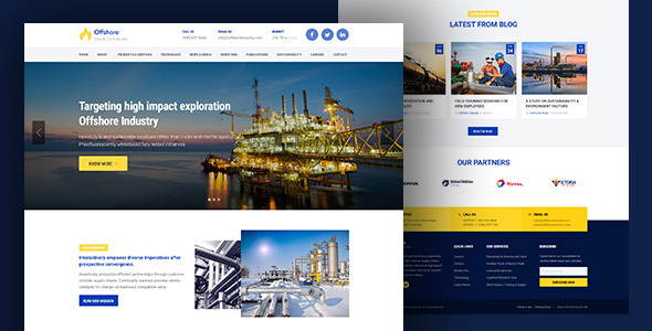 Industrial Website Template Responsive HTML5 – Offshore v1.1