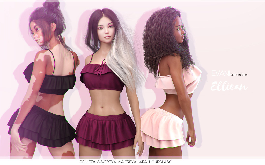 ? EVANI - Elliean top / skirt @  The Crystal Heart Festival - June 30 - July 31 - SecondLifeHub.com