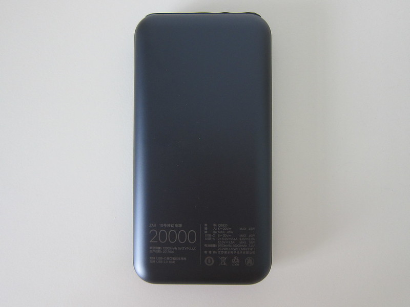 Xiaomi ZMI QB820 20,000mAh Power Bank - Bottom