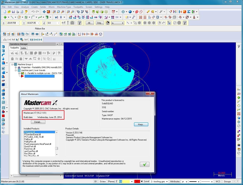 Machining with Mastercam X7 MU2 SP1 16.2.1.61 with Add-ons x86x64 FULL