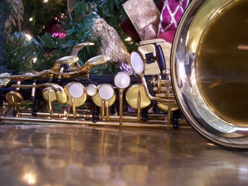 Christmas Alto Saxophone under the tree