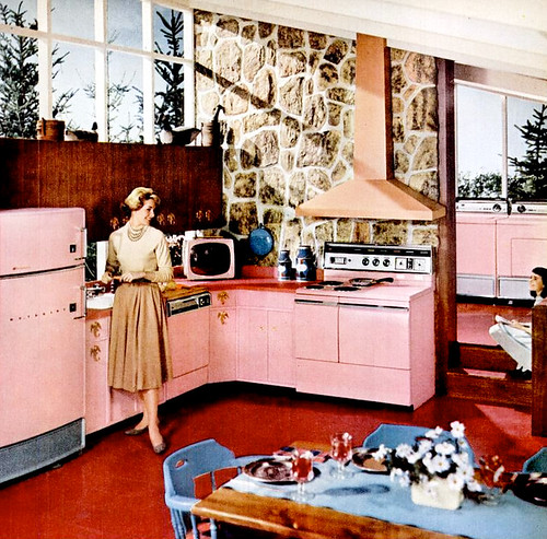 Mid century living kitchens 1956 59 for Kitchen design 60s