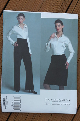 Vogue pattern 2813 DK shirt skirt pant
