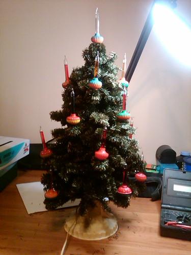 bubble light christmas tree
